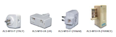 CPE ADSL Splitter, Field for ITA, UK, FI, FR