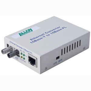 RJ-45 to Fibre Optic (ST) Ethernet Converter