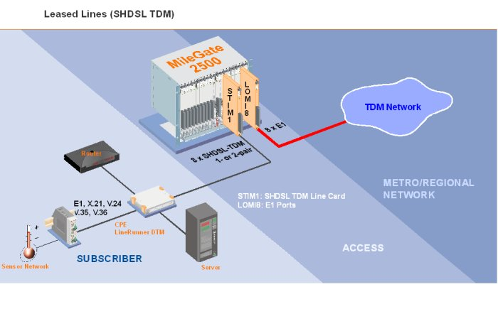 Leased Lines (SHDSL TDM)