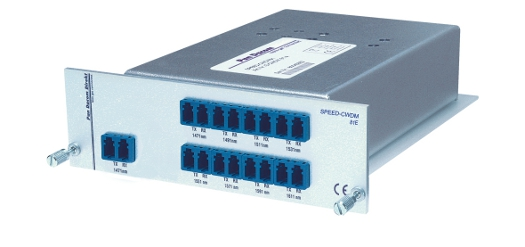 Scalable 8 channel DWDM multiplexer
